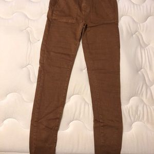 High rise American eagle chestnut jeans